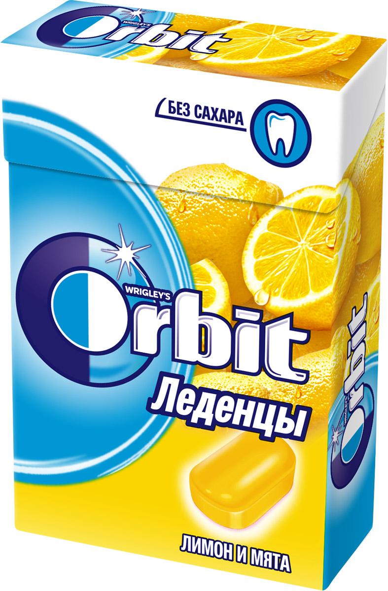 Orbit Лимон и мята леденцы, 35 г0120710Освежающие леденцы Orbit с ароматом лимона и мяты помогают восстановить кислотно-щелочной баланс во рту, и способствуют сохранению здоровья зубов.Уважаемые клиенты! Обращаем ваше внимание, что полный перечень состава продукта представлен на дополнительном изображении.