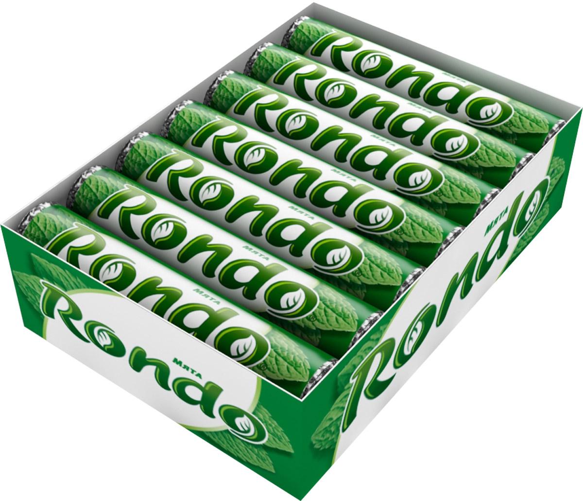 Rondo Мята освежающие конфеты, 14 пачек по 30 г0120710Конфеты Rondo с ароматом мяты освежают дыхание и делают день слаще! Уникальный продукт, созданный в 1996 году специально для российских потребителей, по-прежнему остается одним из любимых оружий против несвежего дыхания. Свежее дыхание облегчает понимание!Уважаемые клиенты! Обращаем ваше внимание, что полный перечень состава продукта представлен на дополнительном изображении.