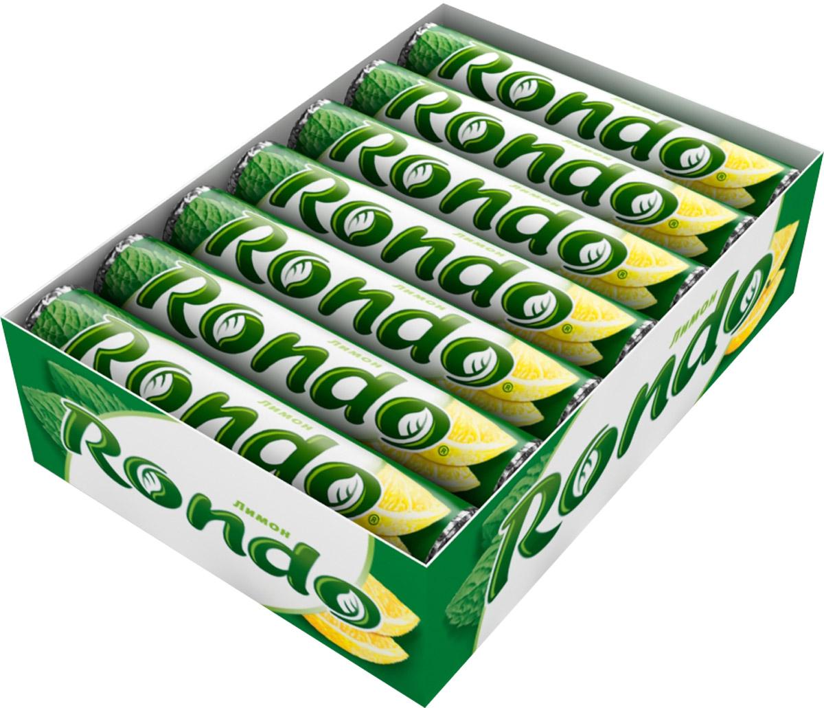 Rondo Лимон освежающие конфеты, 14 пачек по 30 г0120710Освежающие конфеты Rondo с ароматом лимона и мяты освежают дыхание и делают день слаще! Уникальный продукт, созданный в 1996 году специально для российских потребителей, по-прежнему остается одним из любимых оружий против несвежего дыхания. Свежее дыхание облегчает понимание!Уважаемые клиенты! Обращаем ваше внимание, что полный перечень состава продукта представлен на дополнительном изображении.