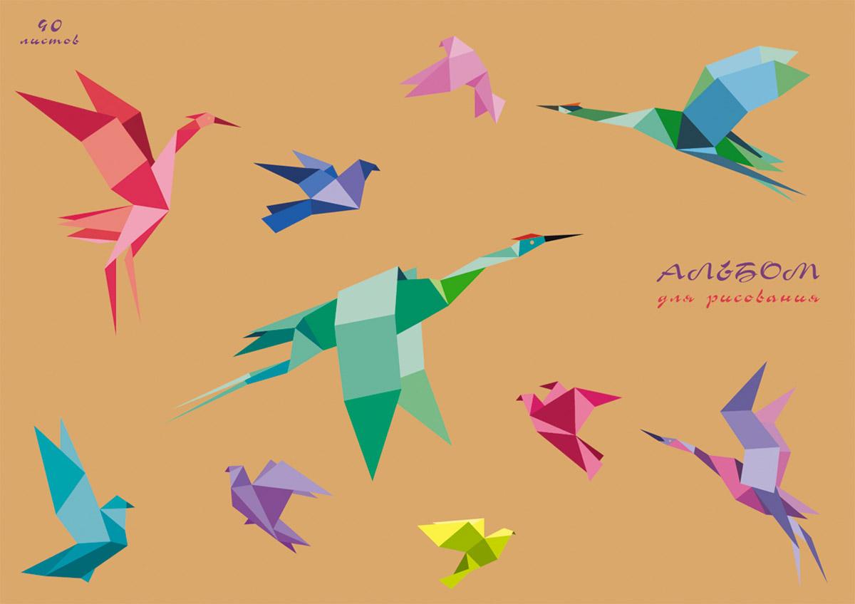 Канц-Эксмо Альбом для рисования Искусство оригами 40 листов72523WDАльбом для рисования 40 листов на склейке. Обложка из крафт-картона с выборочным лаком. Бумага офсет 120г/м2.