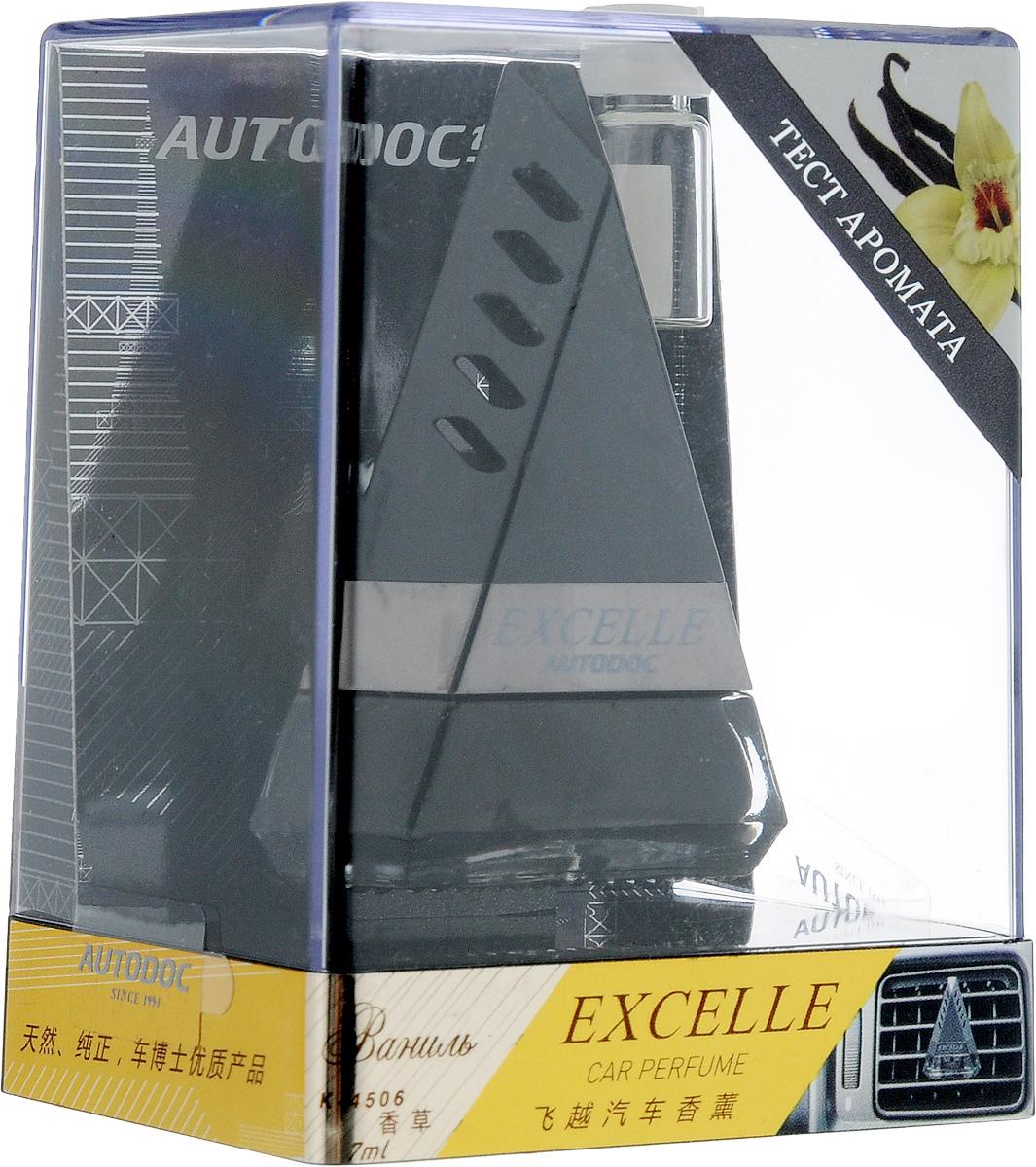 Ароматизатор автомобильный Autodoc Excelle. Vanilla, на дефлектор, 7 млPM 6705Автомобильный ароматизатор Autodoc Excelle. Vanilla эффективно устраняет неприятные запахи и придает приятный аромат ванили. Кроме того, ароматизатор обладает элегантным дизайном. Благодаря особой конструкции, изделие крепится на дефлектор.