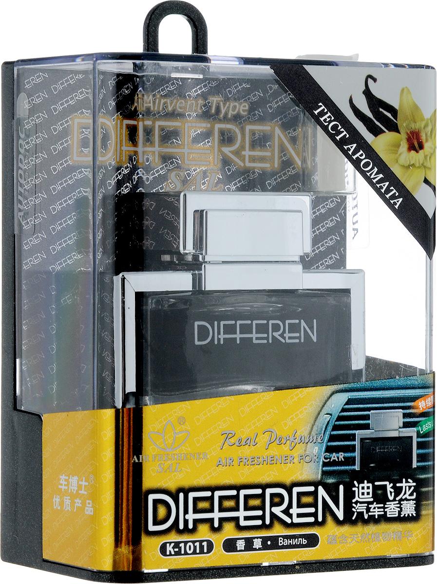 Ароматизатор автомобильный Autodoc Differen. Vanilla, на дефлектор, 12,5 млK100Автомобильный ароматизатор Autodoc Differen. Vanilla эффективно устраняет неприятные запахи и придает приятный аромат ванили. Кроме того, ароматизатор обладает элегантным дизайном. Благодаря особой конструкции, изделие крепится на дефлектор.