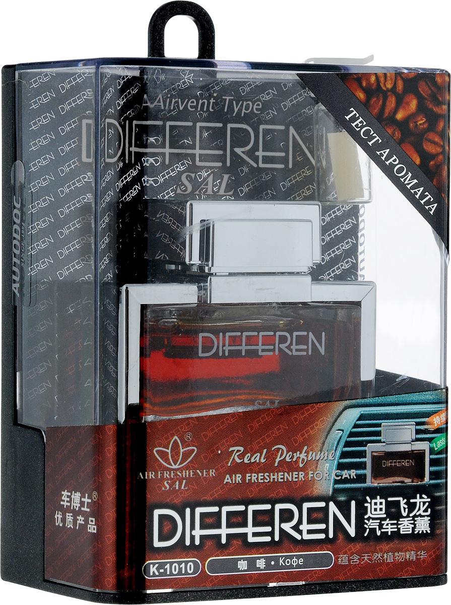 Ароматизатор автомобильный Autodoc Differen. Сoffee, на дефлектор, 12,5 млK-1010Автомобильный ароматизатор Autodoc Differen. Сoffee эффективно устраняет неприятные запахи и придает приятный аромат кофе. Кроме того, ароматизатор обладает элегантным дизайном. Благодаря особой конструкции, изделие крепится на дефлектор.