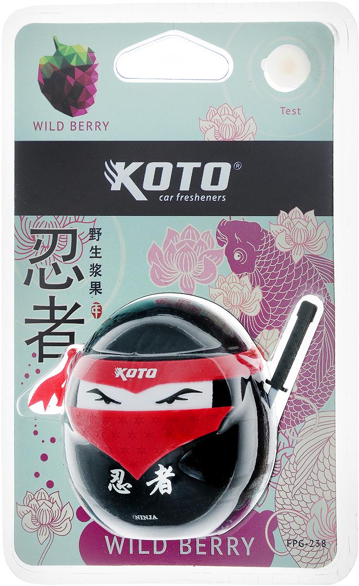 Ароматизатор автомобильный Koto Ниндзя. Wild berry, гелевый, 45 мл2706 (ПО)Автомобильный ароматизатор Koto Ниндзя. Wild berry эффективно устраняет неприятные запахи и придает приятный аромат лесных ягод. Сочетание геля с парфюмами наилучшего качества обеспечивает устойчивый запах. Кроме того, ароматизатор обладает элегантным дизайном. Изделие можно разместить на зеркале заднего вида, используя шнурок для подвеса.