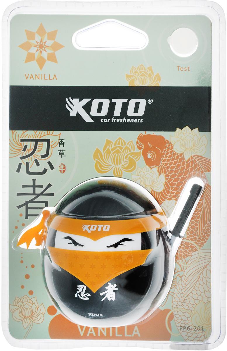 Ароматизатор автомобильный Koto Ниндзя. Vanilla, гелевый, 45 мл