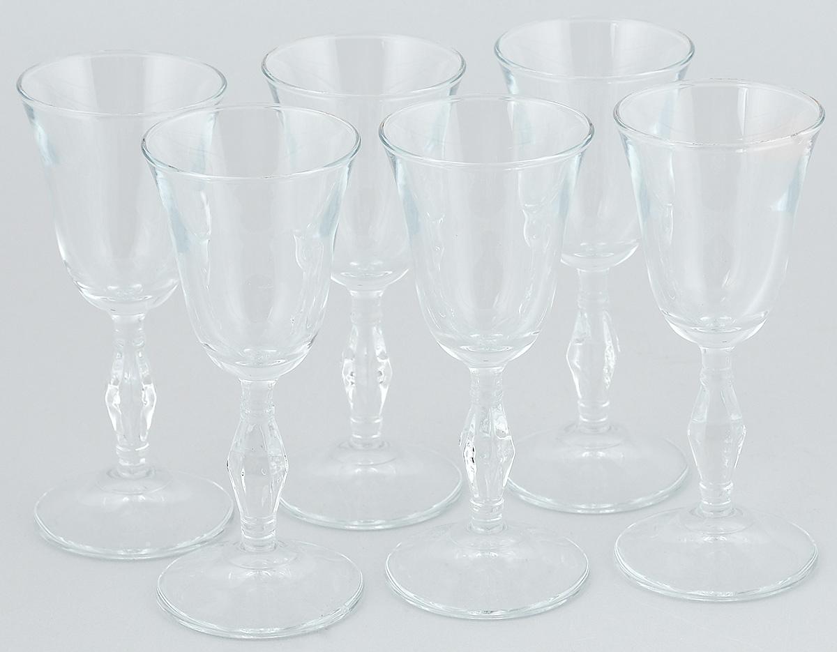 Набор рюмок Pasabahce Retro, 50 мл, 6 штVT-1520(SR)Набор Pasabahce Retro состоит из 6 рюмок, изготовленных из прочного натрий-кальций-силикатного стекла. Изделия, предназначенные для подачи ликера и других спиртных напитков, несомненно придутся вам по душе. Рюмки сочетают в себе элегантный дизайн и функциональность. Набор рюмок Pasabahce Retro идеально подойдет для сервировки стола и станет отличным подарком к любому празднику.Высота рюмки: 13 см.