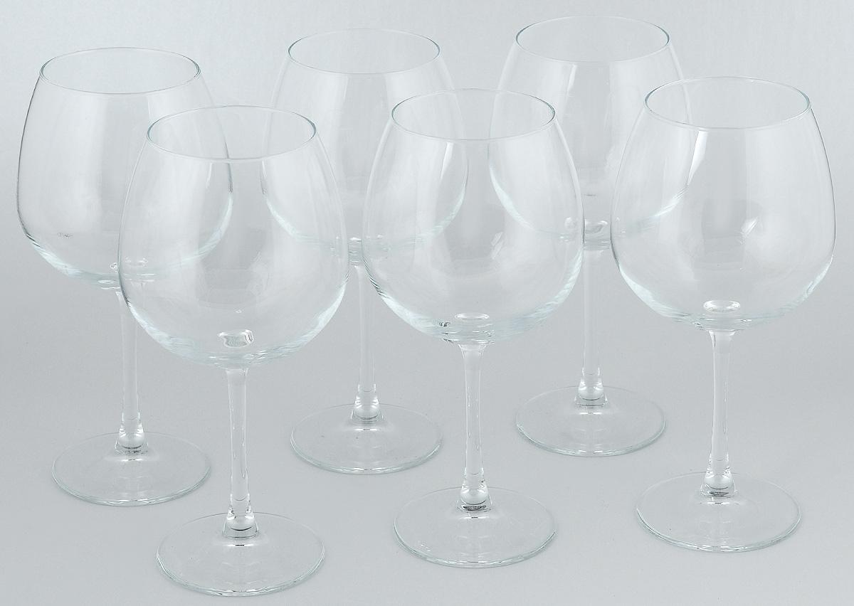 Набор бокалов для вина Pasabahce Enoteca, 780 мл, 6 штVT-1520(SR)Набор Pasabahce Enoteca состоит из шести бокалов, выполненных из прочного натрий-кальций-силикатного стекла. Изделия оснащены высокими ножками и предназначены для подачи вина. Они сочетают в себе элегантный дизайн и функциональность. Набор бокалов Pasabahce Enoteca прекрасно оформит праздничный стол и создаст приятную атмосферу за романтическим ужином. Такой набор также станет хорошим подарком к любому случаю. Высота бокала: 24 см.