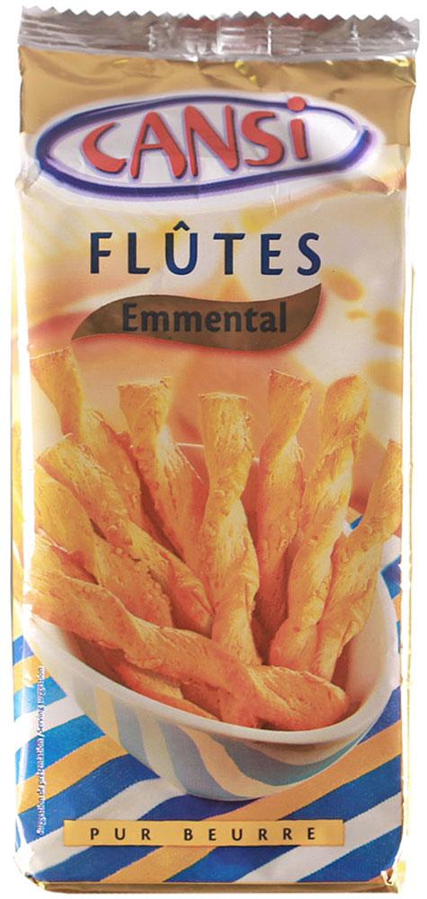 Cansi Палочки слоеные воздушные с сыром эмменталь, 125 г0120710Палочки слоеные воздушные со вкусом сыра эмменталь Cansi - очень быстрый, вкусный перекус или, если хотите - закуска. Можно похрустеть, просматривая любимый фильм в кругу семьи, а можно купить для дружеской пивной посиделки.Продукт натуральный, изготовлен по французской технологии из пшеничной муки высшего сорта.Палочки Cansi рекомендуется употреблять в качестве десерта, закуски или в сочетании с кофе или чаем, а также как дополнение к супам.