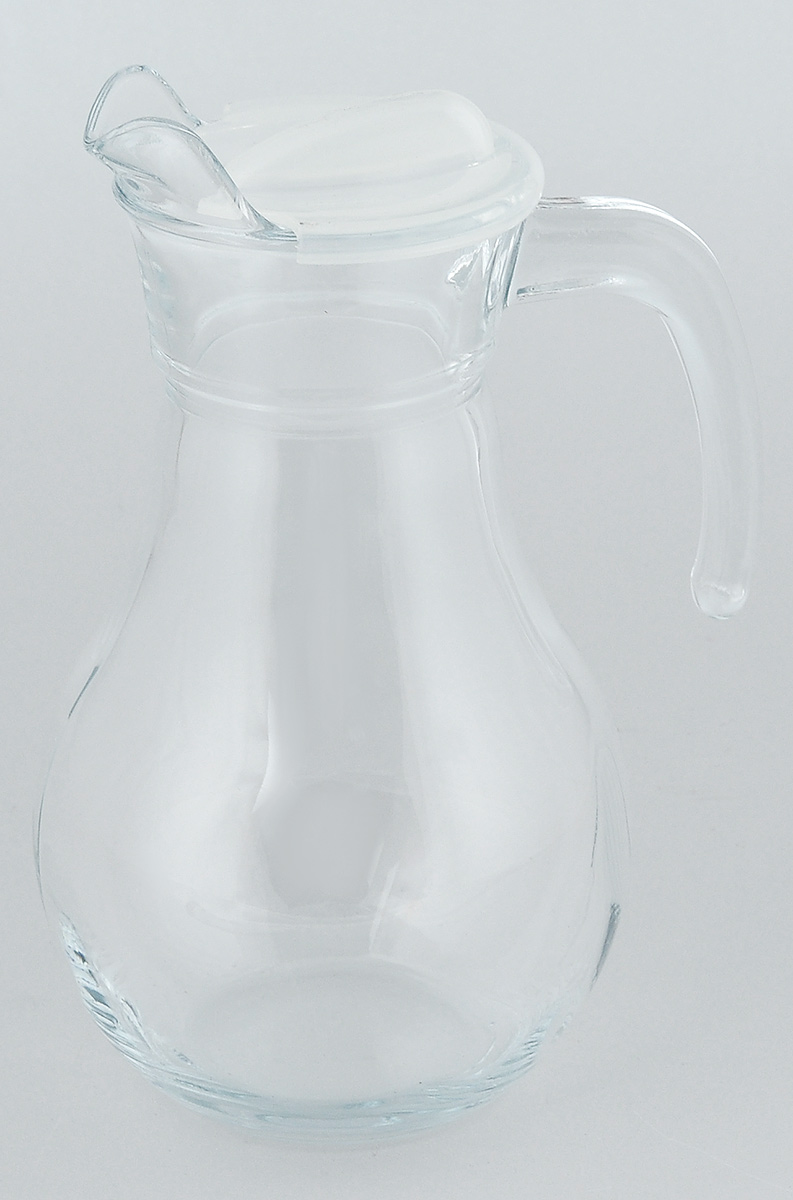 Кувшин Pasabahce Bistro, с крышкой, 1 л51Кувшин Pasabahce Bistro, выполненный из прочного стекла, элегантно украсит ваш стол. Он прекрасно подойдет для подачи воды, сока, компота и других напитков. Изделие оснащено ручкой, пластиковой крышкой и специальным носиком для удобного выливания жидкости. Совершенные формы и изящный дизайн, несомненно, придутся по душе любителям классического стиля. Кувшин Pasabahce Bistro дополнит интерьер вашей кухни и станет замечательным подарком к любому празднику.Высота кувшина: 22 см.