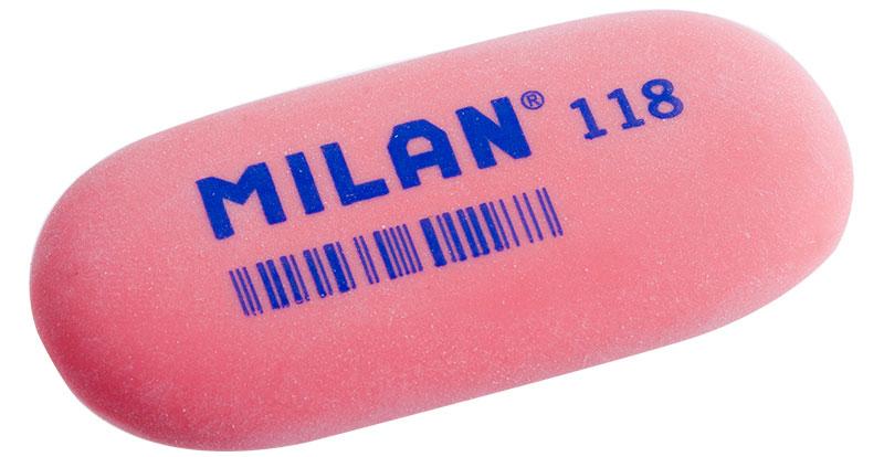 Milan Ластик 118 цвет красныйCMM118_красныйЛастик Milan овальной формы для точного стирания. Полумягкая текстура.