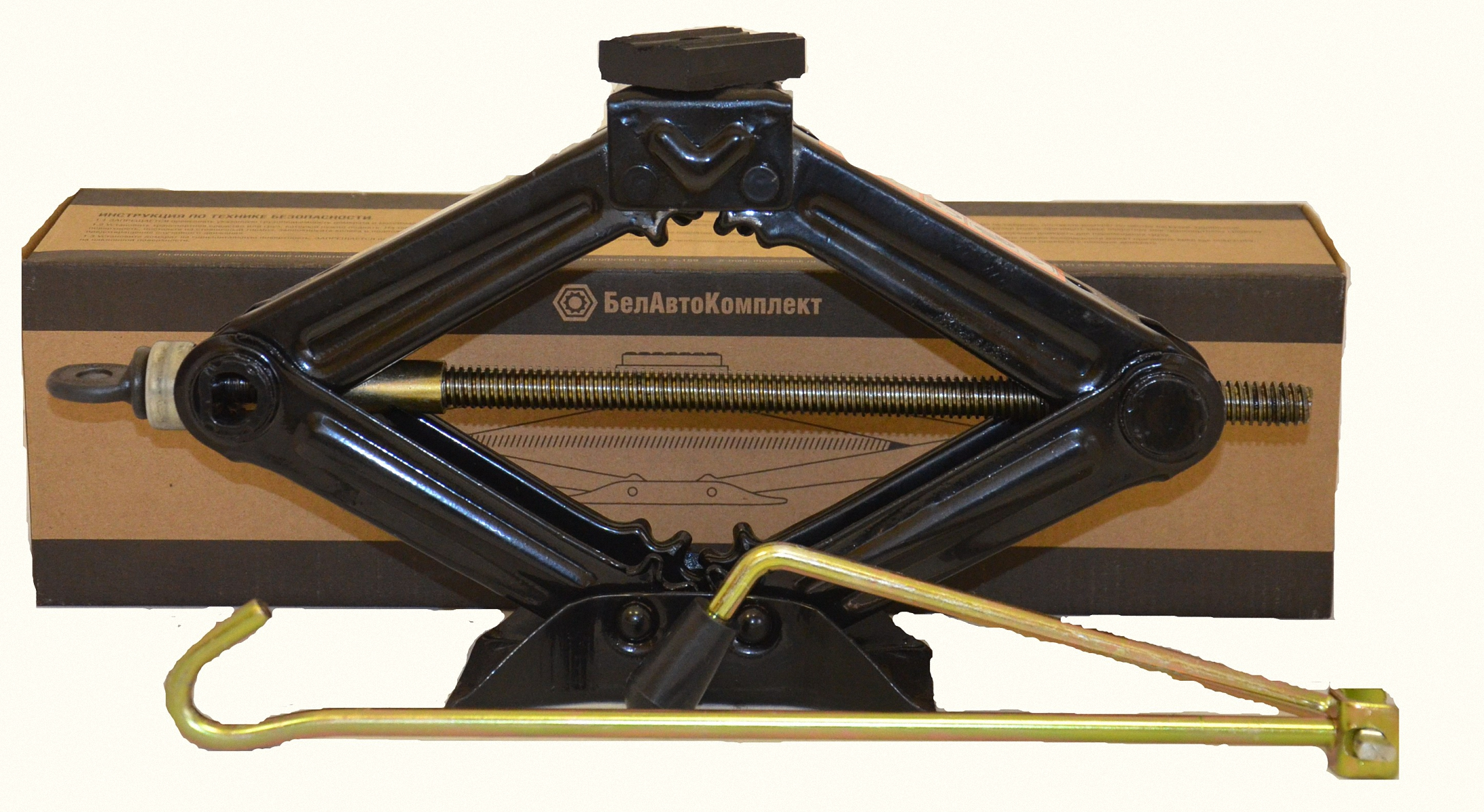Домкрат бутылочный БелАвтоКомплект, ромбический, 1 тБАК.00057Домкрат ромбический грузоподъемностью 1 т БелАвтоКомплект используется при обслуживании легковых автомобилей. Конструкция этих устройств пользуется большой популярностью благодаря легкости, компактности, удобству эксплуатации.Высота подхвата - 100 ммВысота подъёма - 325 ммгабаритная длина - 360 ммгабаритная ширина - 80 ммдлина рукоятки - 500 мм Опорная платформа - резина Масса складской упаковки - 16 кг масса изделия - 1,6 кг