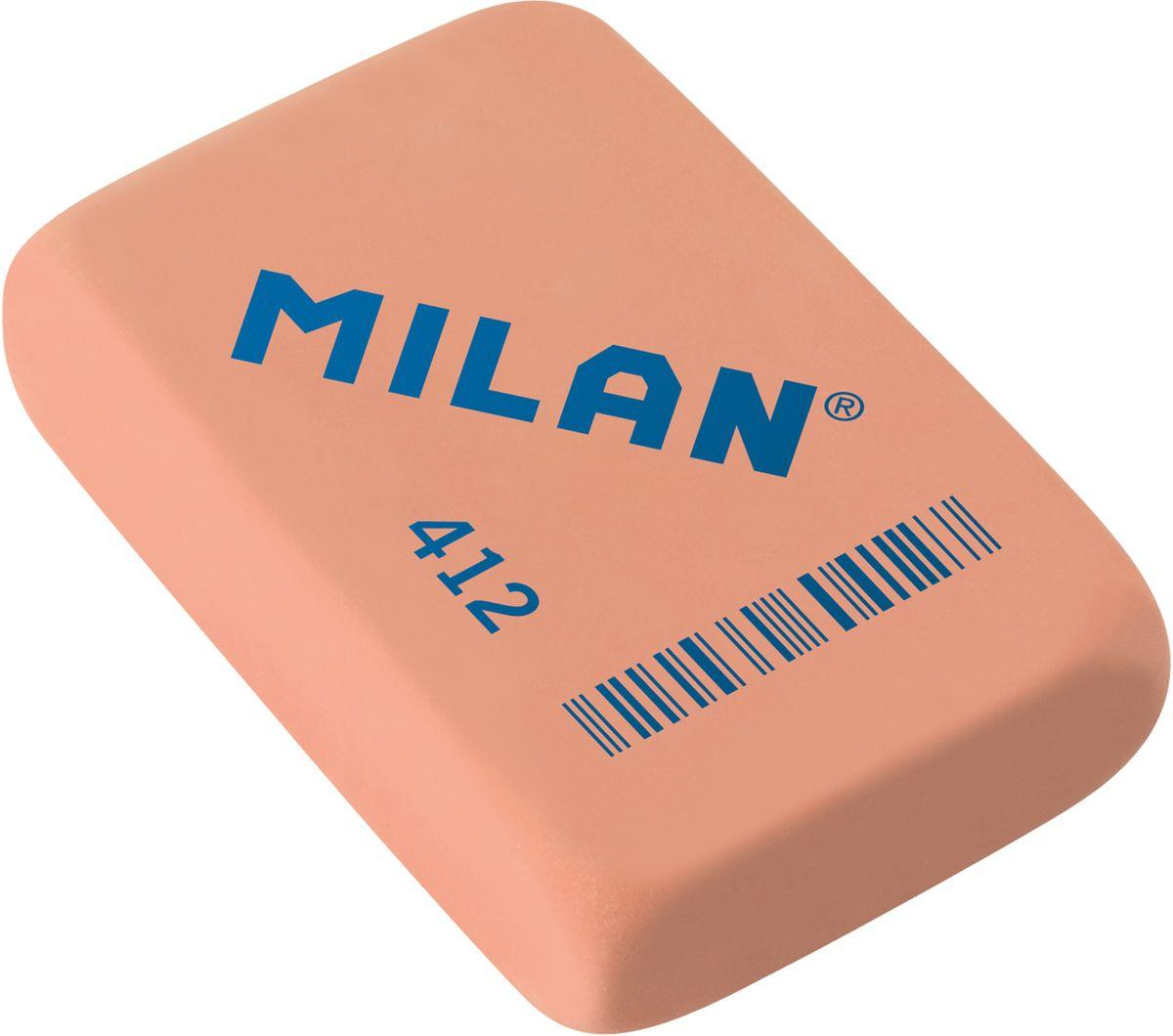 Milan Ластик 412 цвет светло-коралловый352910Ластик Milan имеет мягкую структуру, и обладает высокой гибкостью, обеспечивая безупречное стирание.
