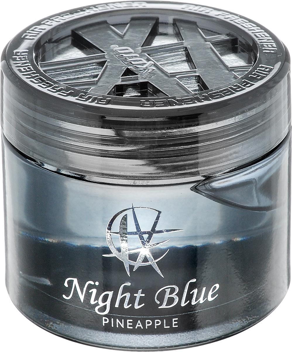 Ароматизатор автомобильный Koto Night Blue. Pineapple, гелевый, 65 мл93287516Автомобильный ароматизатор Koto Night Blue. Pineapple эффективно устраняет неприятные запахи и придает приятный аромат ананаса. Сочетание геля с парфюмами наилучшего качества обеспечивает устойчивый запах. Кроме того, ароматизатор обладает элегантным дизайном. Изделие можно разместить на горизонтальной поверхности, используя двухстороннюю наклейку.