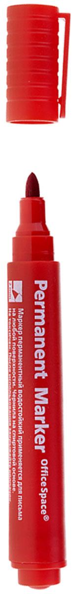 OfficeSpace Маркер перманентный цвет красный72523WDПерманентный маркет OfficeSpace подходит для письма на любых поверхностях. Чернила на спиртовой основе. Плотный колпачок с клипом надежно предотвращает высыхание. Цвет колпачка соответствует цвету чернил. Пулевидный пишущий узел. Ширина линии 2 мм.