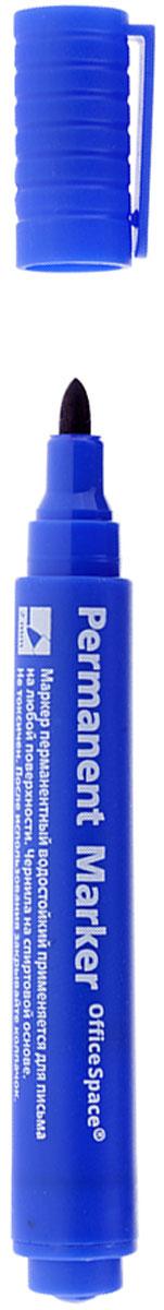 OfficeSpace Маркер перманентный цвет синий72523WDПерманентный маркет OfficeSpace подходит для письма на любых поверхностях. Чернила на спиртовой основе. Плотный колпачок с клипом надежно предотвращает высыхание. Цвет колпачка соответствует цвету чернил. Пулевидный пишущий узел. Ширина линии 2 мм.