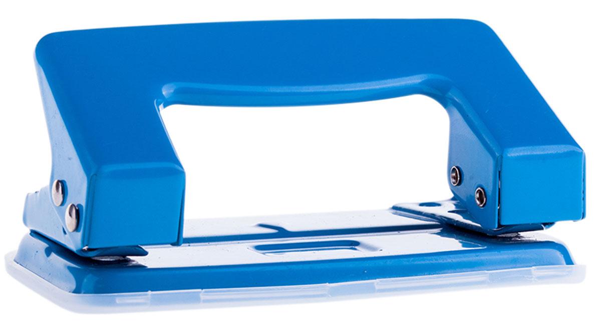 OfficeSpace Дырокол на 10 листов цвет синийP201BU_1300Дырокол OfficeSpace - это незаменимый офисный инструмент для перфорации бумаги.Дырокол с металлическим нескользящим основанием предназначен для одновременной перфорации до 10 листов бумаги. Для удобства имеет съемный пластиковый резервуар для обрезков бумаги, встроенный в основание.