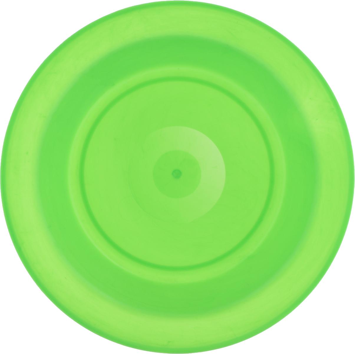 Тарелка Gotoff, цвет: зеленый, диаметр 21 см54 009312Тарелка Gotoff изготовлена из цветного пищевого пластика и предназначена для холодной и горячей пищи. Выдерживает температурный режим в пределах от -25°С до +110°C. Посуду из пластика можно использовать в микроволновой печи, но необходимо, чтобы нагрев не превышал максимально допустимую температуру. Удобная, легкая и практичная посуда для пикника и дачи поможет сервировать стол без хлопот!Диаметр тарелки (по верхнему краю): 21 см. Высота тарелки: 3 см.
