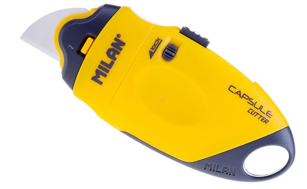 Milan Нож канцелярский с керамическим лезвием 18 ммCUS-011Нож канцелярский Milan имеет пластиковый оригинальный корпус с керамическим лезвием 18 мм. Индивидуальная упаковка в блистер.