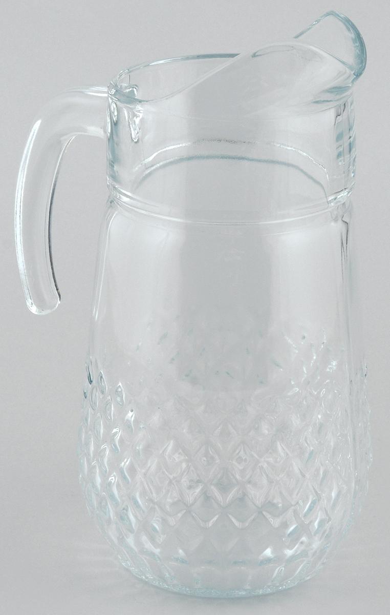 Кувшин Pasabahce Valse, 1,34 лVT-1520(SR)Кувшин Pasabahce Valse, выполненный из прочного стекла, элегантно украсит ваш стол. Он прекрасно подойдет для подачи воды, сока, компота и других напитков. Изделие оснащено ручкой и специальным носиком для удобного выливания жидкости. Совершенные формы и изящный дизайн, несомненно, придутся по душе любителям классического стиля. Кувшин Pasabahce Valse дополнит интерьер вашей кухни и станет замечательным подарком к любому празднику.Высота кувшина: 23 см.