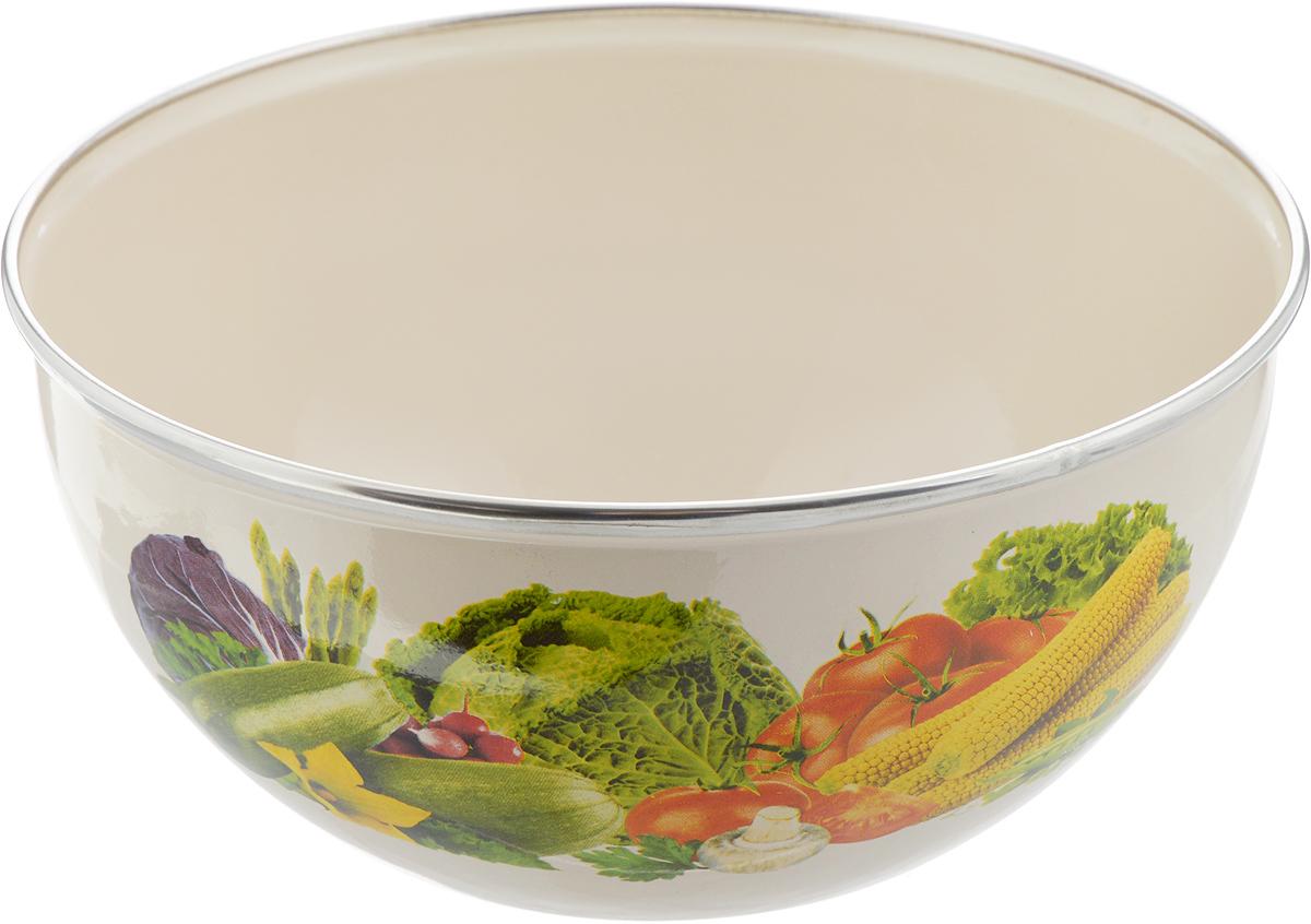 Миска Рубин Овощи, 2 л0660066Миска Рубин Овощи изготовлена из высококачественной стали с эмалированным покрытием. Удобная посуда прекрасно подойдет для походов и пикников. Прочная, компактная миска легко моется. Отлично подойдет для горячих блюд.