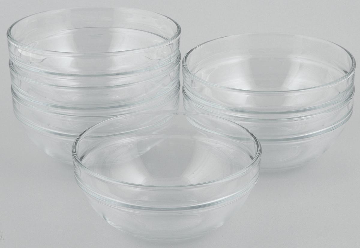 Набор салатников Pasabahce Chefs, диаметр 14 см, 6 штPRV-7975Набор Pasabahce Chefs состоит из 6 салатников, выполненных из высококачественного натрий-кальций-силикатного стекла. Такие салатники прекрасно подойдут для сервировки стола и станут достойным оформлением для ваших любимых блюд. Высокое качество и функциональность набора позволят ему стать достойным дополнением к вашему кухонному инвентарю.Диаметр салатника: 14 см.Объем салатника: 500 мл.