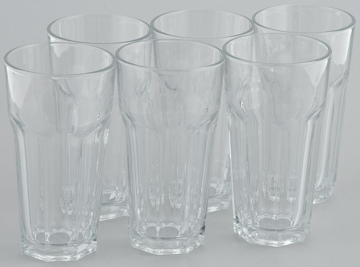 Набор стаканов Pasabahce Casablanca, 365 мл, 6 штVT-1520(SR)Набор Pasabahce состоит из шести стаканов, выполненных из натрий-кальций-силикатного стекла. Изделия предназначены для подачи сока, воды, компота и другихнапитков. Такие стаканы станут идеальным украшением праздничного стола и отличным подарком к любомупразднику.