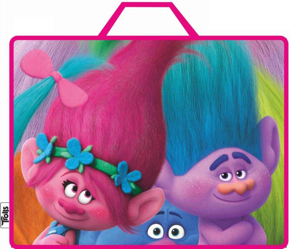 Centrum Сумка-папка Тролли цвет розовыйFS-36054Папка-сумка Тролли, с ручками, формат А4, текстильная.