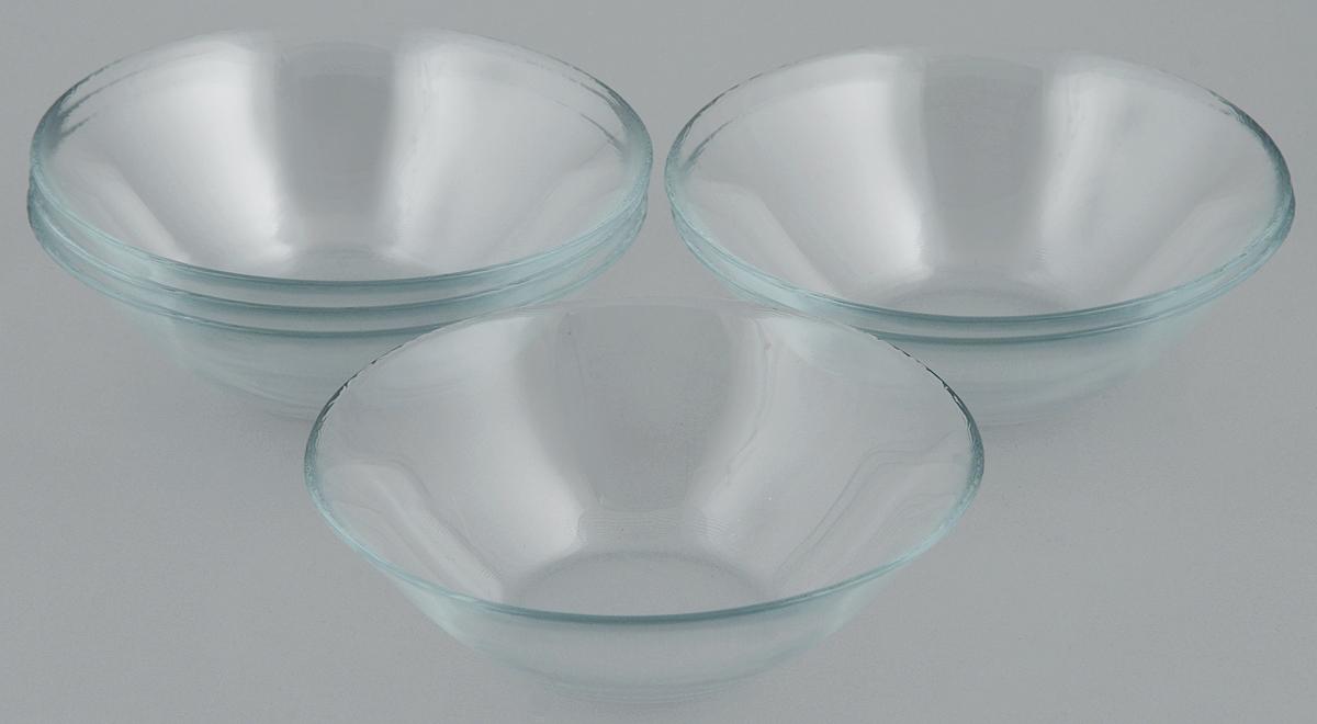 Набор салатников Pasabahce Basic, диаметр 14 см, 6 шт54 009312Набор Pasabahce Basic состоит из 6 салатников, выполненных из высококачественного натрий-кальций-силикатного стекла. Такие салатники прекрасно подойдут для сервировки стола и станут достойным оформлением для ваших любимых блюд. Высокое качество и функциональность набора позволят ему стать достойным дополнением к вашему кухонному инвентарю.Диаметр салатника: 14 см.