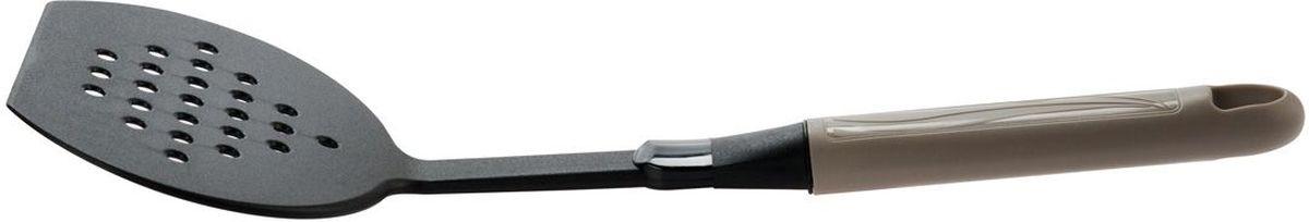 Лопатка для жарки MoulinVilla Happy , цвет: серый. 9031281HHA4754 009312Яркая кухонная лопатка MOULINvilla Happy выполнена из высококачественного пластика, который с легкостью выдерживает ежедневные нагрузки, кроме того, это экологически чистый материал. Такая лопатка подходит для переворачивания, деления на порции и подачи на стол вторых блюд, для переворачивания мяса при жарке, при этом, не повреждая антипригарное покрытие. Лопатка MOULINvilla Happy обладает исключительным качеством, поэтому займет достойное место среди аксессуаров на вашей кухне.