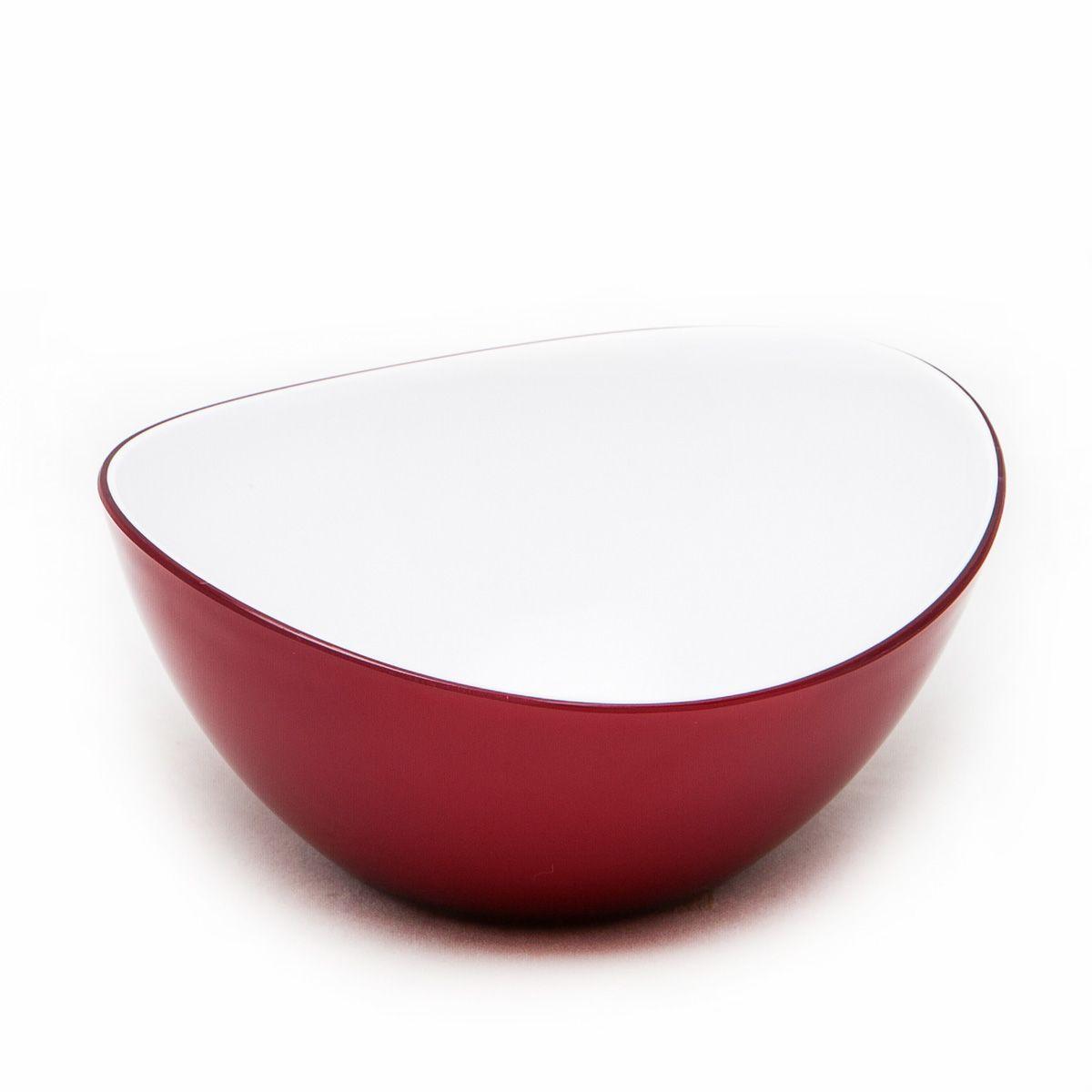 Миска MoulinVilla, цвет: бургунди, 16 х 14 х 6 см115510Оригинальная миска Moulinvilla, изготовленная из высококачественного акрила, благодаря привлекательному дизайну выполняет не только практичную, но и декоративную функцию. Белый цвет внутренней поверхности и сочный, интенсивный цвет снаружи отлично контрастируют, привлекая к себе внимание.Миска подойдет для сервировки салатов, фруктов, закусок, десертов, печенья, сладостей и других продуктов.Подходит для мытья в посудомоечной машине.