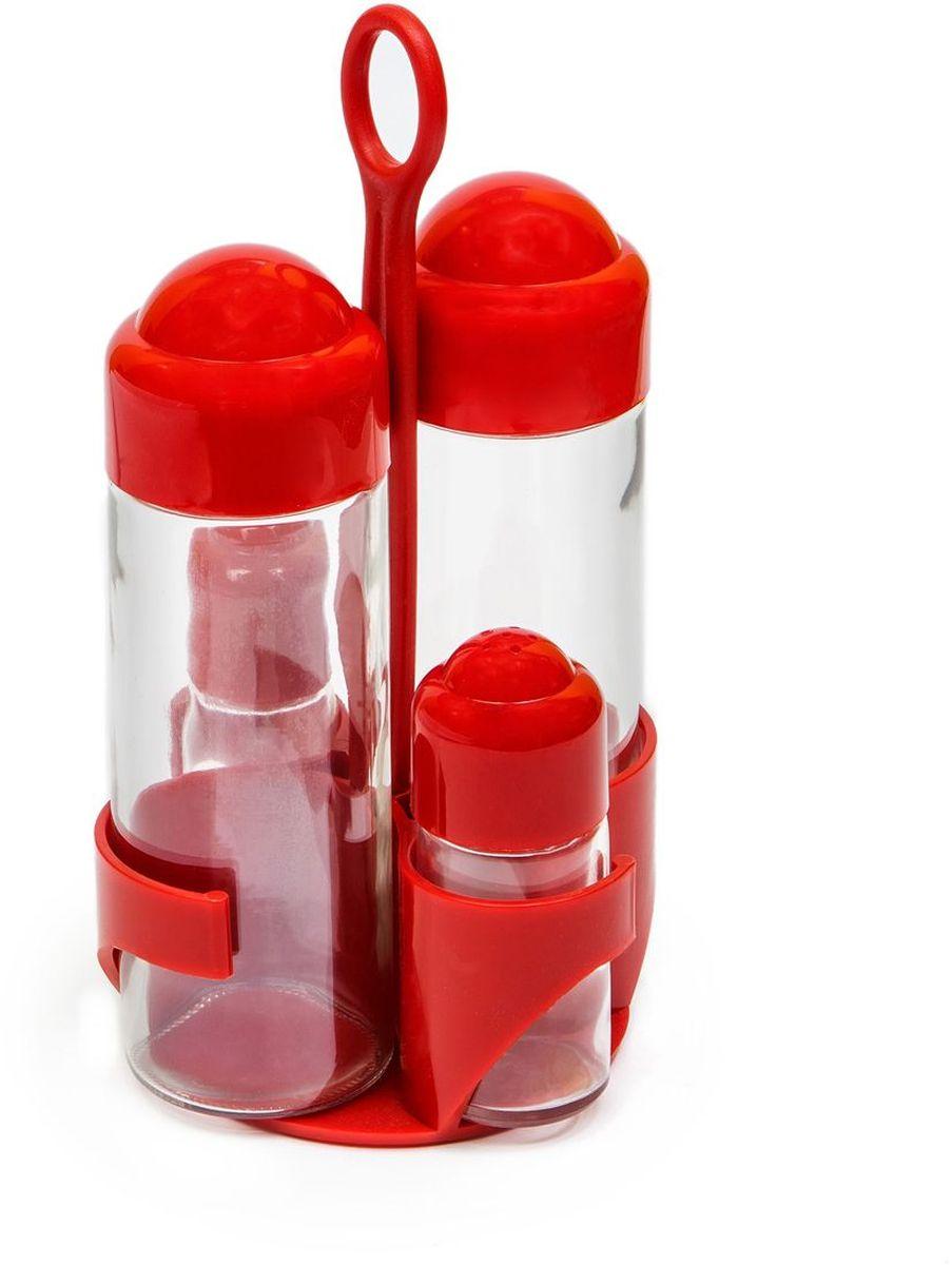 Набор емкостей для масла MoulinVilla, цвет: красный, 4 предмета21395599В набор входит две емкости для масла и уксуса, а также солонка и перечница. Емкости выполнены из прочного стекла с пластиковыми крышками. Герметичные крышки обеспечиваютдолгое хранение жидкостей. В набор входит подставка.Яркий оригинальный набор станет изысканным украшением интерьера вашей кухни.
