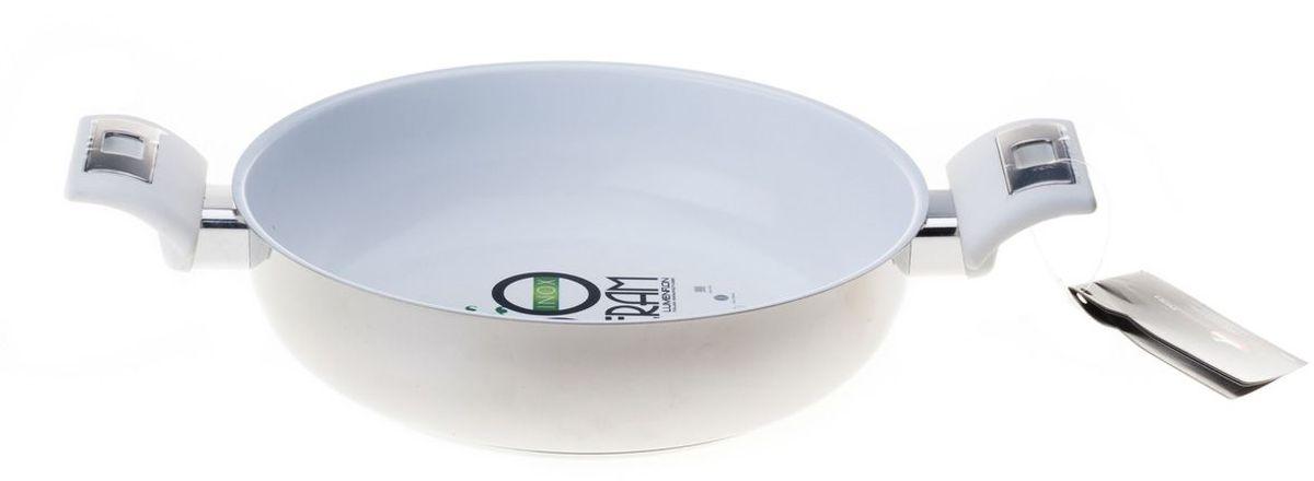 Кастрюля MoulinVilla Iceberg. Lumenflon, диаметр 24 см68/5/3Кастрюля MOULINvilla изготовлена из литого алюминия с пластиковыми не нагревающимися ручками. Высокая теплопроводность и равномерное распределение температуры позволят готовить намного быстрее.Подходит для газовых, электрических, стеклокерамических плит, не подходит для индукционных плит. Кастрюля пригодна для мытья в посудомоечной машине, но без использования абразивных чистящих средств.Диаметркастрюли (по верхнему краю): 24 см.