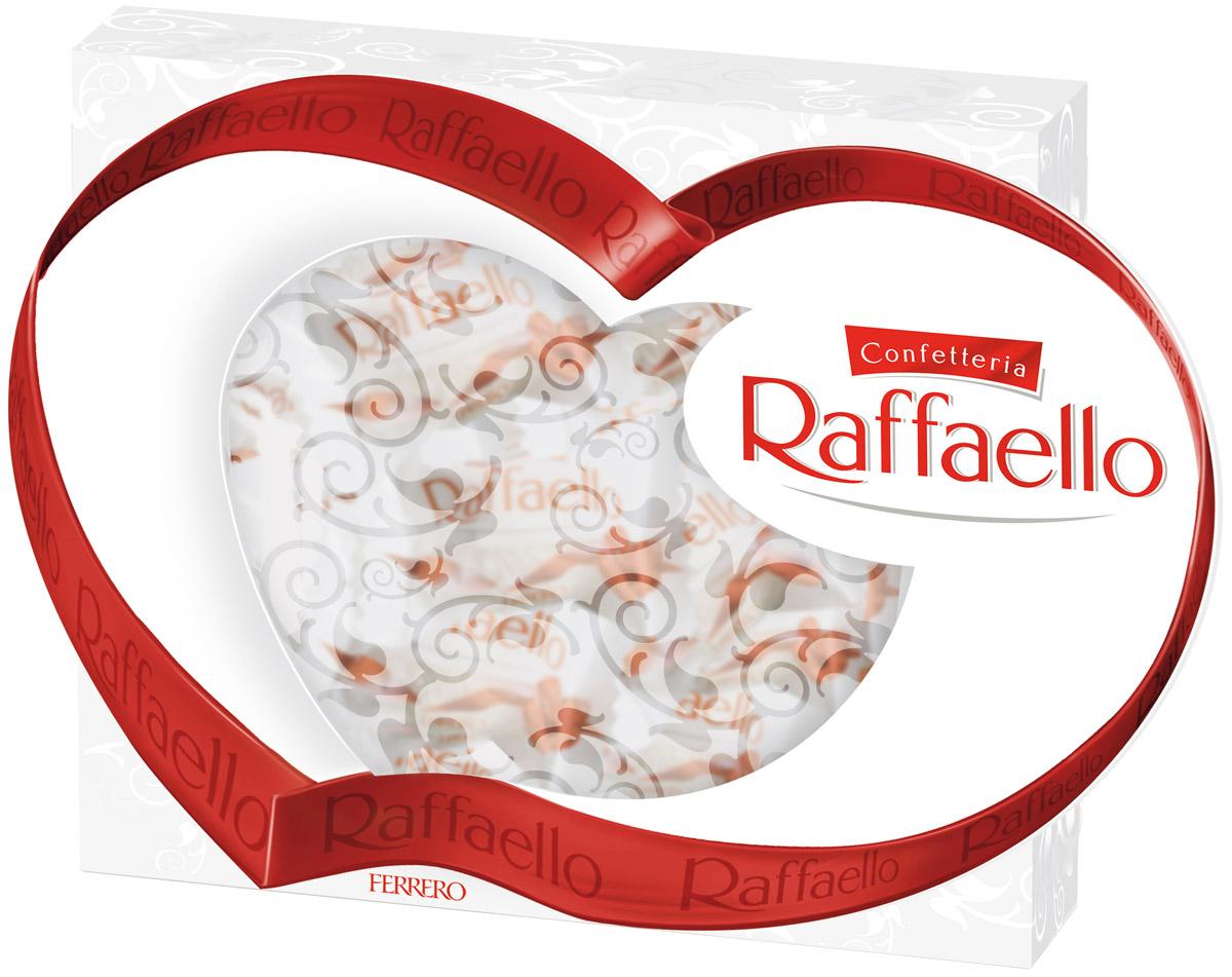 Raffaello Сердце конфеты с цельным миндальным орехом в кокосовой обсыпке, 120 г1488200Конфеты Раффаэлло с цельным миндальным орехом в кокосовой обсыпке.