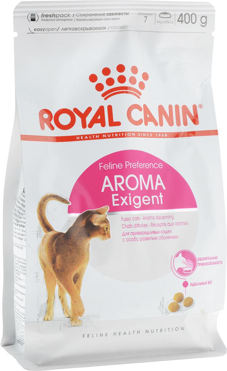 Корм сухой Royal Canin Exigent 33 Aromatic Attraction, для кошек, привередливых к аромату продукта, 400 г0120710Сухой корм Royal Canin Exigent 33 Aromatic Attraction - это полнорационный сбалансированный корм для очень привередливых взрослых кошекв возрасте старше 1 года. Узнайте пищевые предпочтения вашей кошки!Наличие индивидуальных пищевых предпочтений означает, что каждая кошка по-своему интерпретирует аромат, текстуру, вкус корма и ощущения после его потребления. Каждый продукт семейства Exigent, помимо вкусовых качеств, обладает также рядом других оригинальных, специфических свойств.Чувствительность к аромату.Корм Aromatic attraction (Ароматик эттрэкшн) с оригинальным высокопривлекательным ароматическим комплексом, созданным на основе натуральных ингредиентов. Это рацион высокой питательной ценности для привередливых кошек.Поддержание идеального веса.Особая рецептура корма обладает умеренной калорийностью, что помогает поддерживать идеальный вес кошки.Забота о красоте шерсти.Комплекс активных питательных веществ, включающий биотин и масло огуречника аптечного, способствует красоте шерсти кошки.Состав: кукуруза, дегидратированное мясо рыбы, животные жиры, пшеница, кукурузная клейковина, изолятрастительных белков, гидролизат белков животного происхождения, дегидратированное мясо птицы,растительная клетчатка, свекольный жом, соевое масло, минеральные вещества, фосфат натрия, маслоогуречника аптечного. Добавки (в 1 кг): Питательные добавки: витамин A: 24300 МЕ, витамин D3: 900 МЕ, E1 (железо): 46 мг, E2 (йод): 3,6 мг,E5 (марганец): 60 мг, E6 (цинк): 197 мг, E8 (селен): 0,08 мг. Консервант: сорбат калия, антиокислители: пропилгаллат,БГА. Содержание питательных веществ: Белки 33%, жиры 15%, минеральные вещества 7,5%, клетчатка пищевая 3%, медь15 мг/кг.Товар сертифицирован.