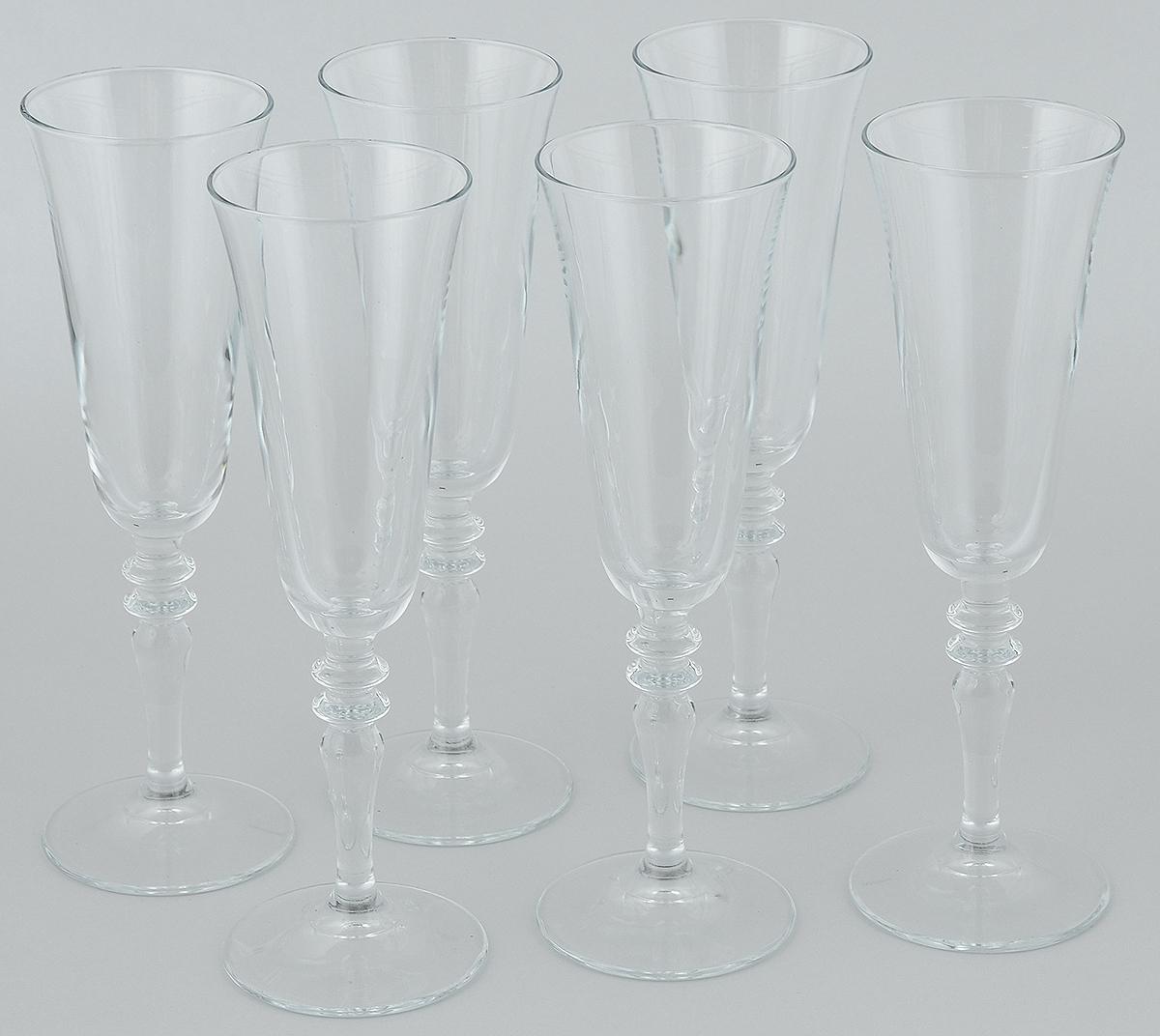 Набор бокалов Pasabahce Vintage, 190 мл, 6 штVT-1520(SR)Набор Pasabahce Vintage состоит из шести бокалов, выполненных из прочного натрий-кальций-силикатного стекла. Изделия оснащены высокими ножками и предназначены для подачи вина. Они сочетают в себе элегантный дизайн и функциональность. Набор бокалов Pasabahce Vintage прекрасно оформит праздничный стол и создаст приятную атмосферу за романтическим ужином. Такой набор также станет хорошим подарком к любому случаю.Высота бокала: 23 см.Диаметр бокала: 7 см.
