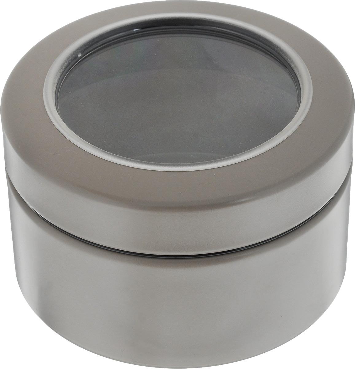 Контейнер Brabantia, цвет: серо-бежевый, 500 мл4630003364517Контейнер Brabantia прекрасно подойдет для хранения сладостей. Он изготовлен из нержавеющей стали. Контейнер оснащен крышкой с прозрачной вставкой из стекла, благодаря которой вы можете видеть содержимое. Удобный и легкий контейнер позволит вам хранить всевозможные сладости, а благодаря современному дизайну он впишется в любой интерьер.