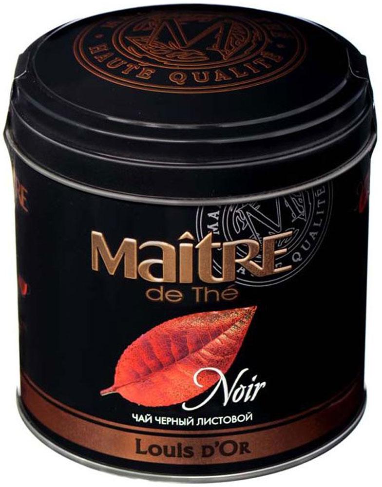 Maitre Louis DOr черный листовой чай, 150 г0120710Черный чай Maitre Louis DOr (Луидор). Дивный купаж крупнолистовых кенийский и индийских чаев с лучших плантаций, расположенных в горных районах Кении и юга Индии. Этот чай обладает ярким, нежным и насыщенным вкусом и ароматом. Насладитесь вкусом этого чая вместе со своими друзьями и близкими.