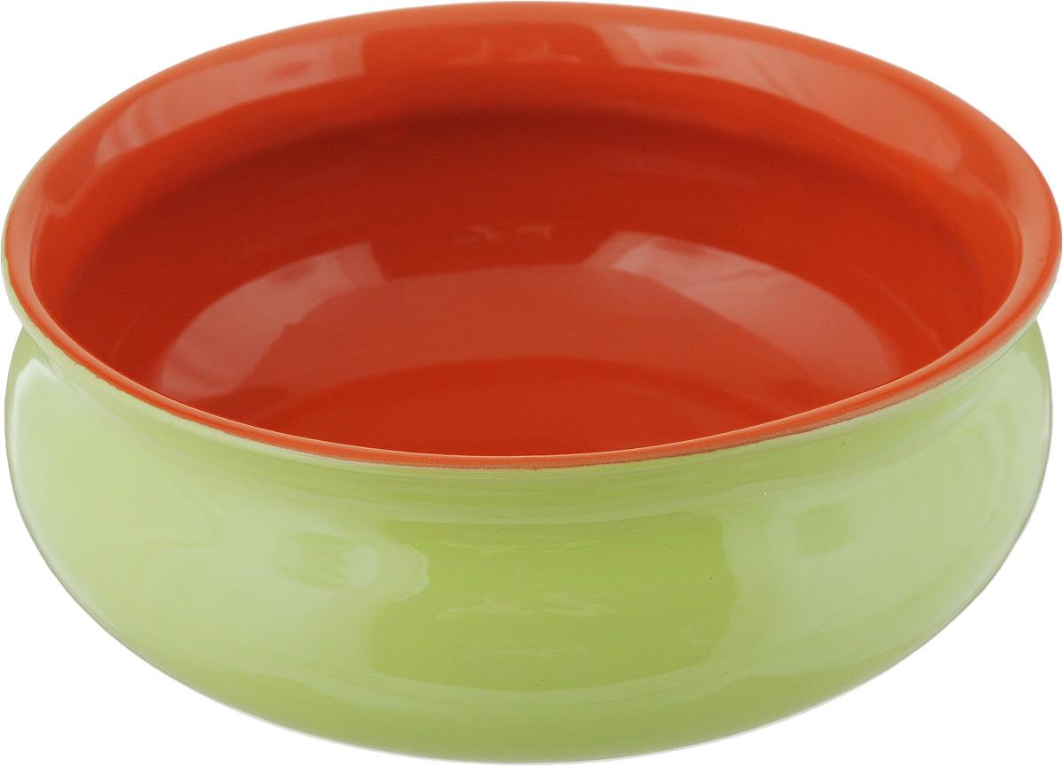 Тарелка глубокая Борисовская керамика Скифская, цвет: салатовый, оранжевый, 500 мл54 009312Глубокая тарелка Борисовская керамика Скифская выполнена из керамики. Изделие сочетает в себе изысканный дизайн с максимальной функциональностью. Она прекрасно впишется в интерьер вашей кухни и станет достойным дополнением к кухонному инвентарю. Такая тарелка подчеркнет прекрасный вкус хозяйки и станет отличным подарком. Можно использовать в духовке и микроволновой печи.Диаметр тарелки (по верхнему краю): 14 см.Объем: 500 мл.