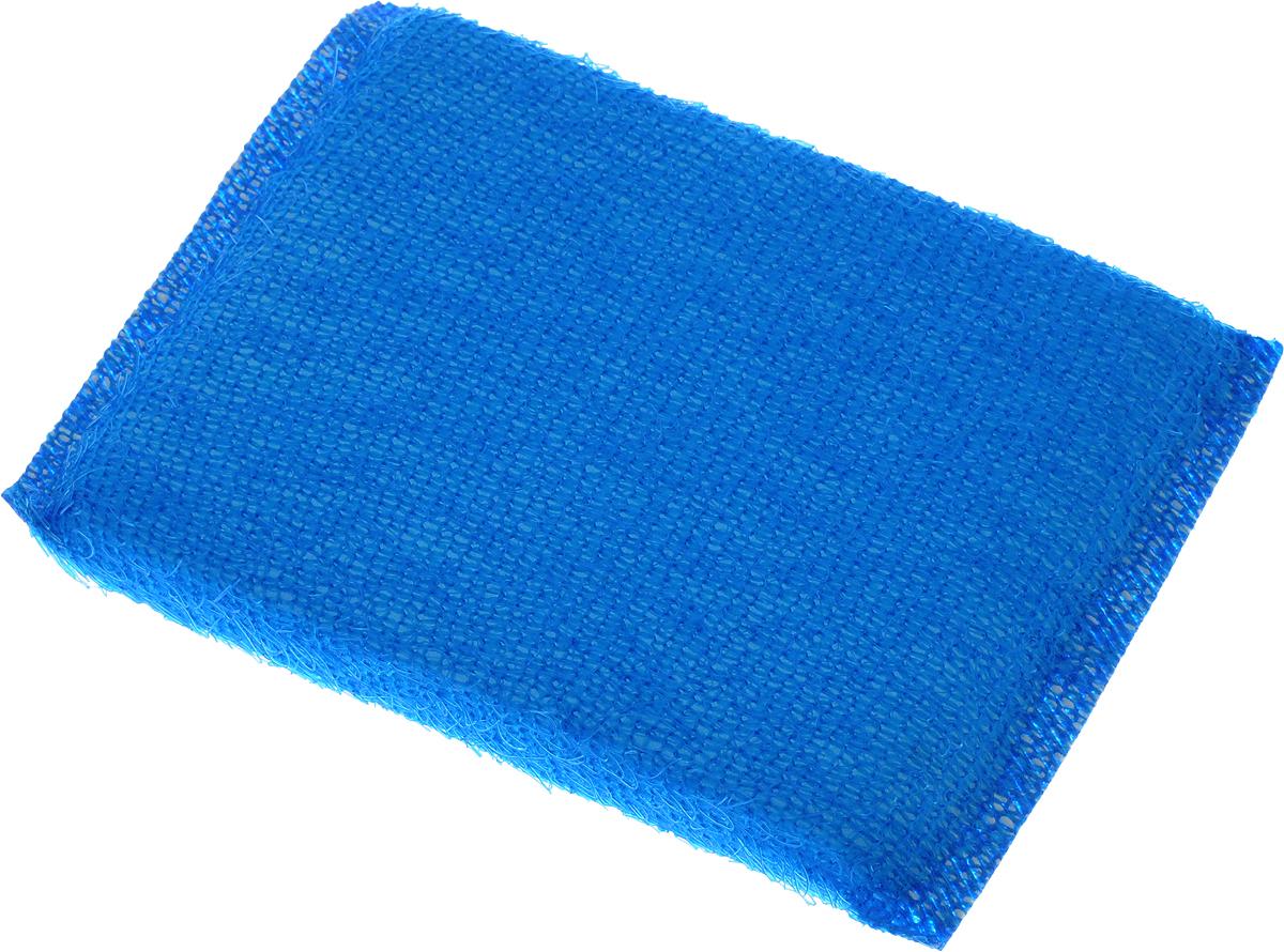 Губка для мытья посуды Home Queen, с металлизированной нитью, цвет: синий, 120 х 80 х 25 мм38_синийГубка для мытья посуды Home Queen изготовлена из поролона в ворсистой сетке из полипропиленовой металлизированной нити. Предназначена для мытья посуды и кухонных поверхностей. Удобна в применении. Позволяет экономить моющее средство, благодаря структуре поролона, который дает много пены при использовании.Материал: полипропиленовая металлизированная нить, поролон. Размер губки: 12 х 9 х 2 см.