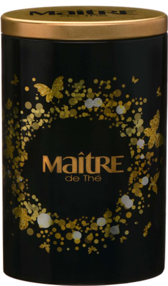 Maitre Gold & Black черный листовой чай, 90 г0120710Жестяная банка с золотым принтом как сочетание стильного и эффектного. Внутри идеально подходящий к упаковке черный чай Ассам. Чай прекрасно сочетается со сладостями и медом. Насладитесь вкусом чая Maitre Gold & Black вместе со своими друзьями и близкими. У ассамского чая густой аромат и характерный настой темно-красного цвета с терпким солодово-фруктовым вкусом, он прекрасно тонизирует и отлично сочетается с молоком и разнообразными десертами.