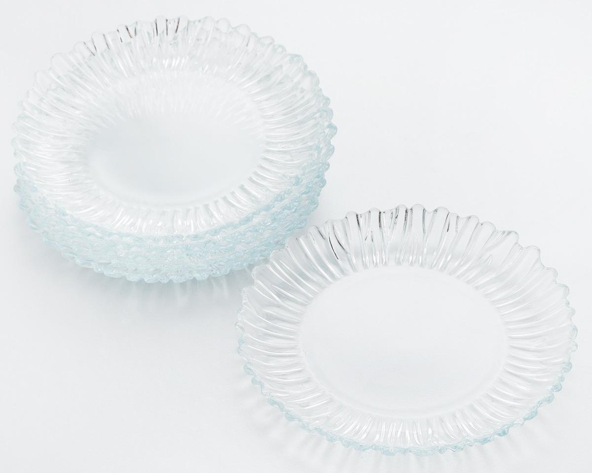 Набор десертных тарелок Pasabahce Aurora, диаметр 20,5 см, 6 штPRM024YE301Набор Pasabahce Aurora состоит из 6 десертных тарелок, выполненных из высококачественного натрий-кальций-силикатного стекла. Изделия предназначены для красивой сервировки различных блюд. Набор сочетает в себе изысканный дизайн с максимальной функциональностью.