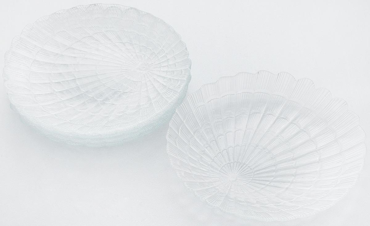 Набор тарелок Pasabahce Atlantis, диаметр 19 см, 6 шт115610Набор Pasabahce Atlantis состоит из шести тарелок, выполненных из высококачественного закаленного стекла. Они имеют оригинальную форму и декорированы рельефным узором. Тарелки прекрасно подойдут для красивой сервировки различных блюд. Оригинальность оформления тарелок придется по вкусу и ценителям классики, и тем, кто предпочитает утонченность и изящность. Набор тарелок Pasabahce Atlantis станет украшением вашего стола и послужит отличным подарком к любому празднику.