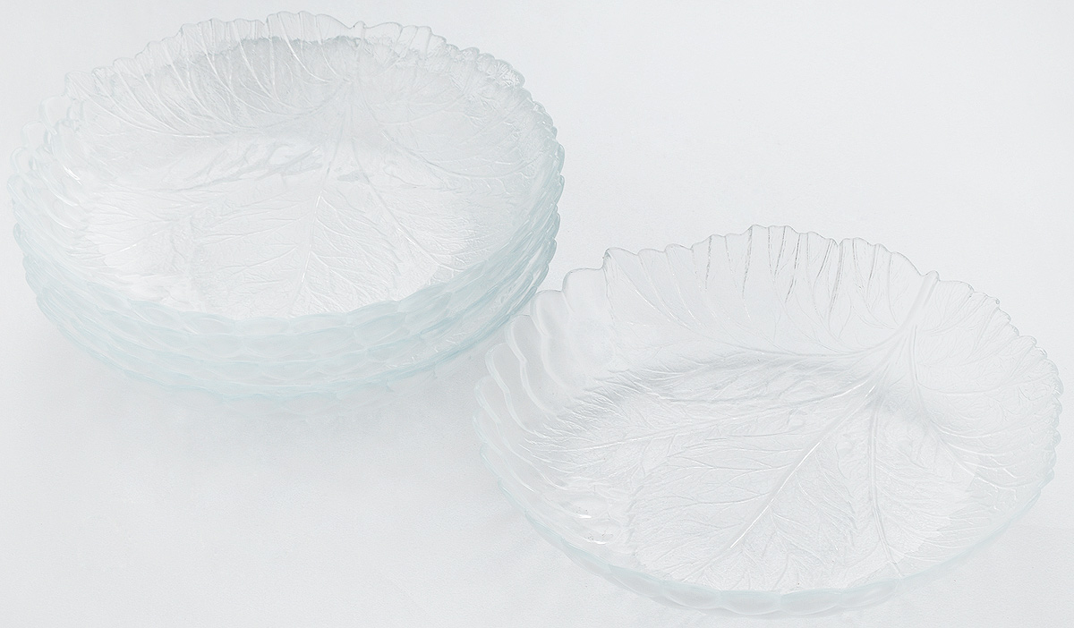 Набор тарелок Pasabahce Sultana, диаметр 21 см, 6 штРАД14457937_бирюзовыйНабор Pasabahce Sultana состоит из 6 тарелок, выполненных из высококачественного натрий-кальций-силикатного стекла. Изделия предназначены для красивой сервировки различных блюд. Набор сочетает в себе изысканный дизайн с максимальной функциональностью.