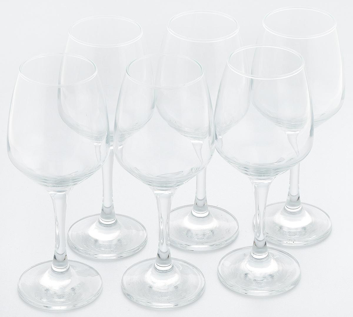 Набор бокалов для вина Pasabahce Isabella, 400 мл, 6 шт440272BНабор Pasabahce Isabella состоит из 6 бокалов, выполненных из прочного натрий-кальций-силикатного стекла. Изделия оснащены высокими ножками и предназначены для подачи вина. Они сочетают в себе элегантный дизайн и функциональность. Набор бокалов Pasabahce Isabella прекрасно оформит праздничный стол и создаст приятную атмосферу за романтическим ужином. Такой набор также станет хорошим подарком к любому случаю.