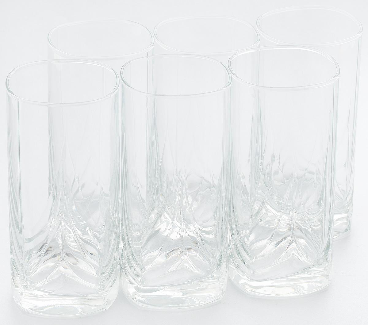 Набор стаканов для коктейлей Pasabahce Triumph, 300 мл, 6 штVT-1520(SR)Набор Pasabahce, состоящий из шести стаканов, несомненно, придется вам по душе. Стаканы предназначены для подачи коктейлей, сока, воды и других напитков. Они изготовлены из прочного высококачественного прозрачного стекла и сочетают в себе элегантный дизайн и функциональность. Благодаря такому набору пить напитки будет еще вкуснее.Набор стаканов Pasabahce идеально подойдет для сервировки стола и станет отличным подарком к любому празднику.