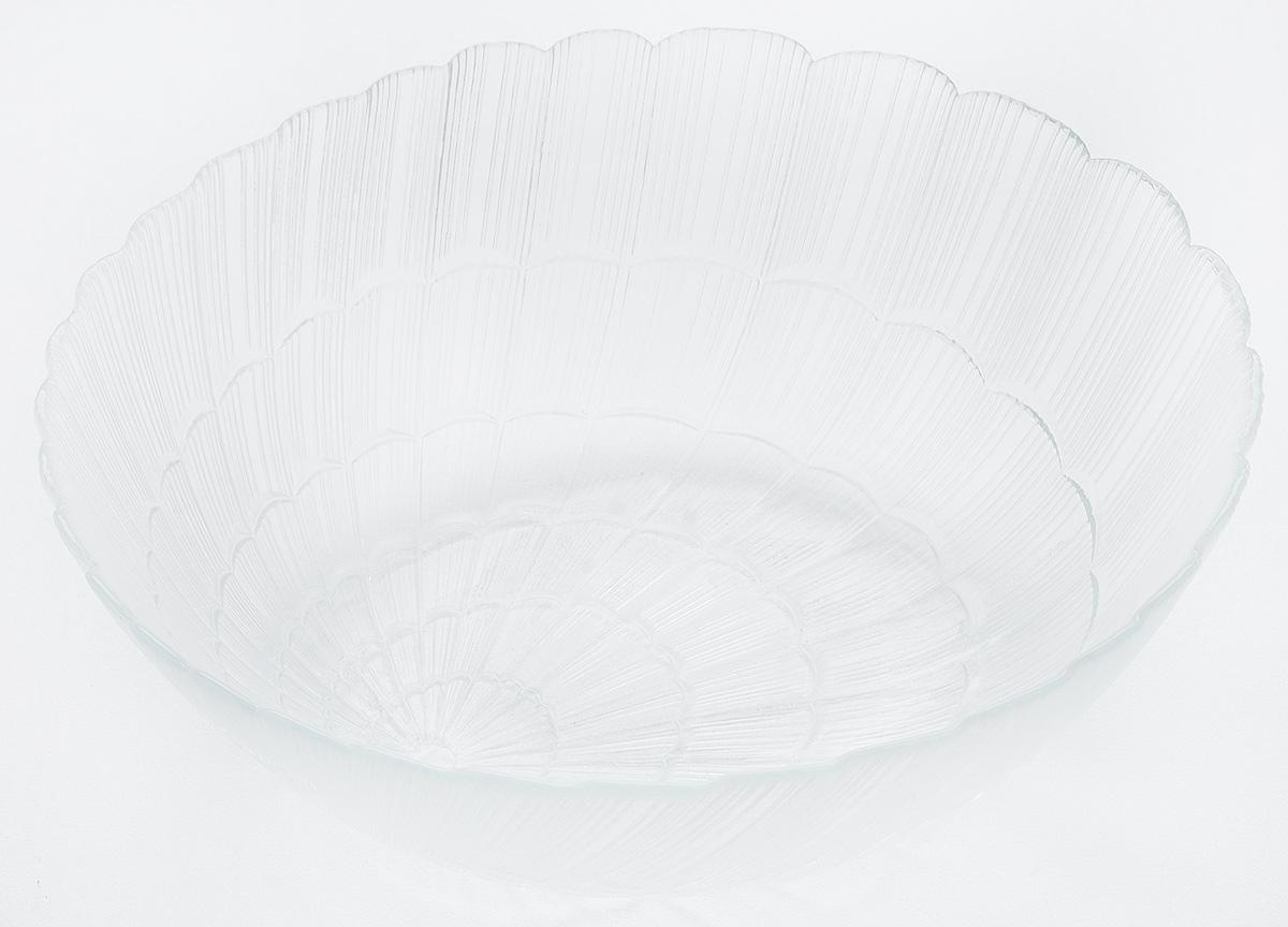 Салатник Pasabahce Atlantis, диаметр 27 см115610Салатник Pasabahce Atlantis, выполненный из прозрачного высококачественного натрий-кальций-силикатного стекла, предназначен для красивой сервировки различных блюд. Салатник сочетает в себе лаконичный дизайн с максимальной функциональностью. Оригинальность оформления придется по вкусу и ценителям классики, и тем, кто предпочитает утонченность и изящность.