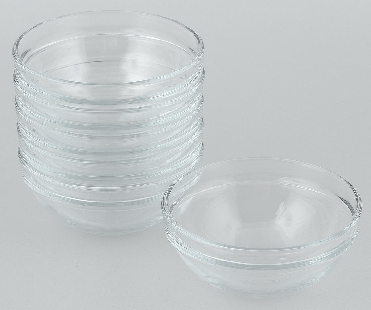 Набор салатников Pasabahce Chefs, диаметр 9 см, 6 шт115510Набор Pasabahce Chefs состоит из 6 салатников, выполненных из высококачественного натрий-кальций-силикатного стекла. Такие салатники прекрасно подойдут для сервировки стола и станут достойным оформлением для ваших любимых блюд. Высокое качество и функциональность набора позволят ему стать достойным дополнением к вашему кухонному инвентарю.Диаметр салатника: 9 см.