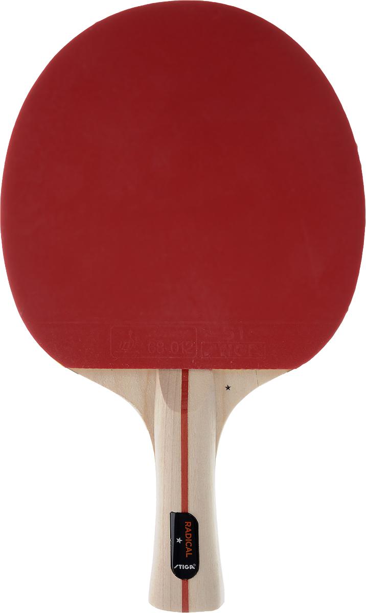 Ракетка для настольного тенниса Stiga Radical3B327Универсальная ракетка Stiga Radical для игры в настольный теннис прекрасно подойдет любителям и начинающим игрокам. Изготовлена из прочных качественных материалов, удобно лежит в руке и гарантирует хорошее чувство мяча и наиболее комфортную игру.Количество слоев основания: 5.Толщина губки: 1,7 мм.Скорость: 40 Вращение: 30 Контроль: 90