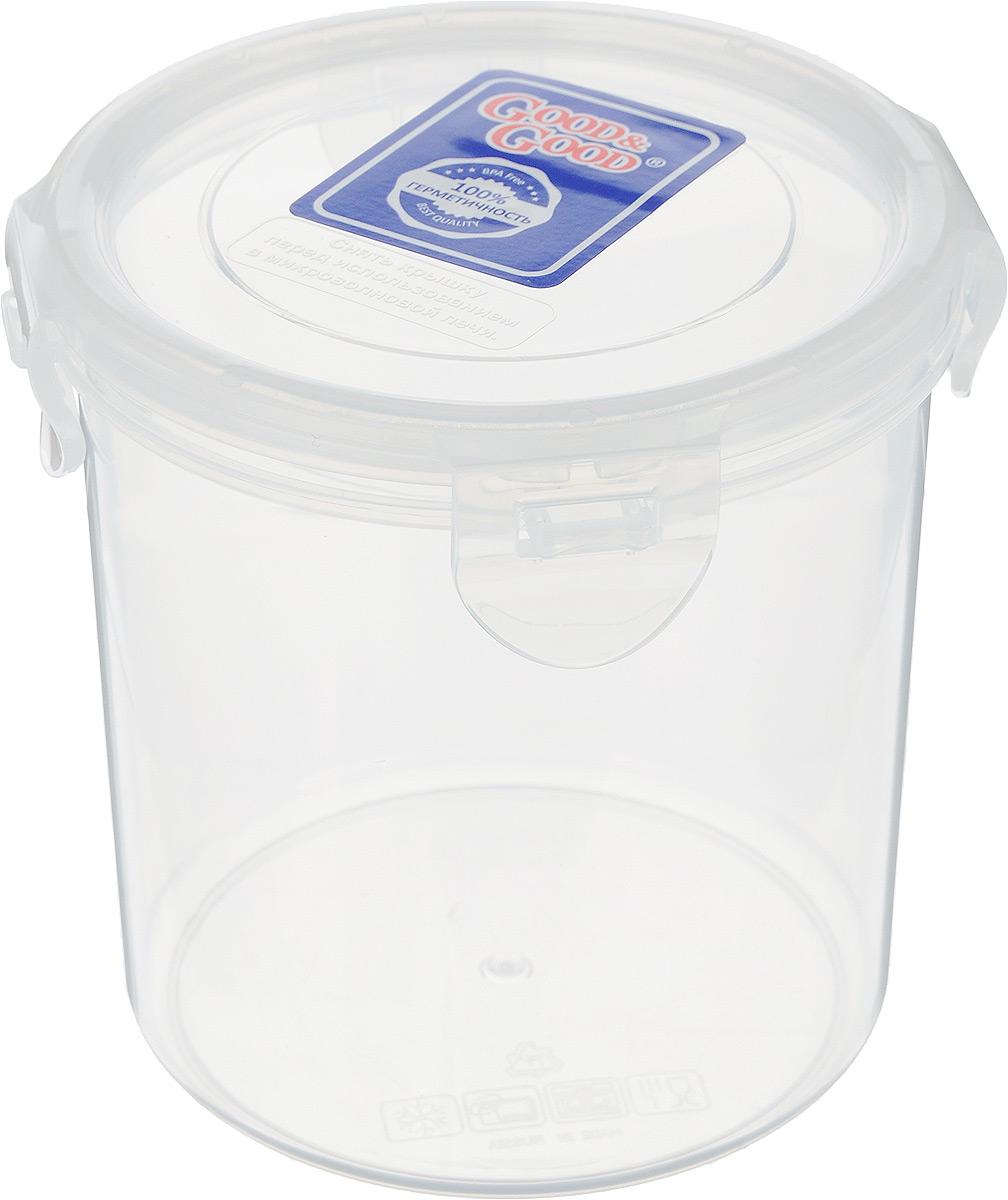 Контейнер для пищевых продуктов Good&Good, цвет: прозрачный, 780 млVT-1520(SR)Контейнер Good&Good, изготовленный из высококачественного полипропилена, предназначен для хранения любых пищевых продуктов. Крышка с силиконовой вставкой герметично защелкивается специальным механизмом. Изделие устойчиво к воздействию масел и жиров, легко моется. Прозрачные стенки позволяют видеть содержимое. Контейнер имеет возможность хранения продуктов глубокой заморозки, обладает высокой прочностью. Контейнер Good&Good удобен для ежедневного использования в быту.Можно мыть в посудомоечной машине и использовать в холодильнике.Размер контейнера (с учетом крышки): 11 х 11 х 12 см.