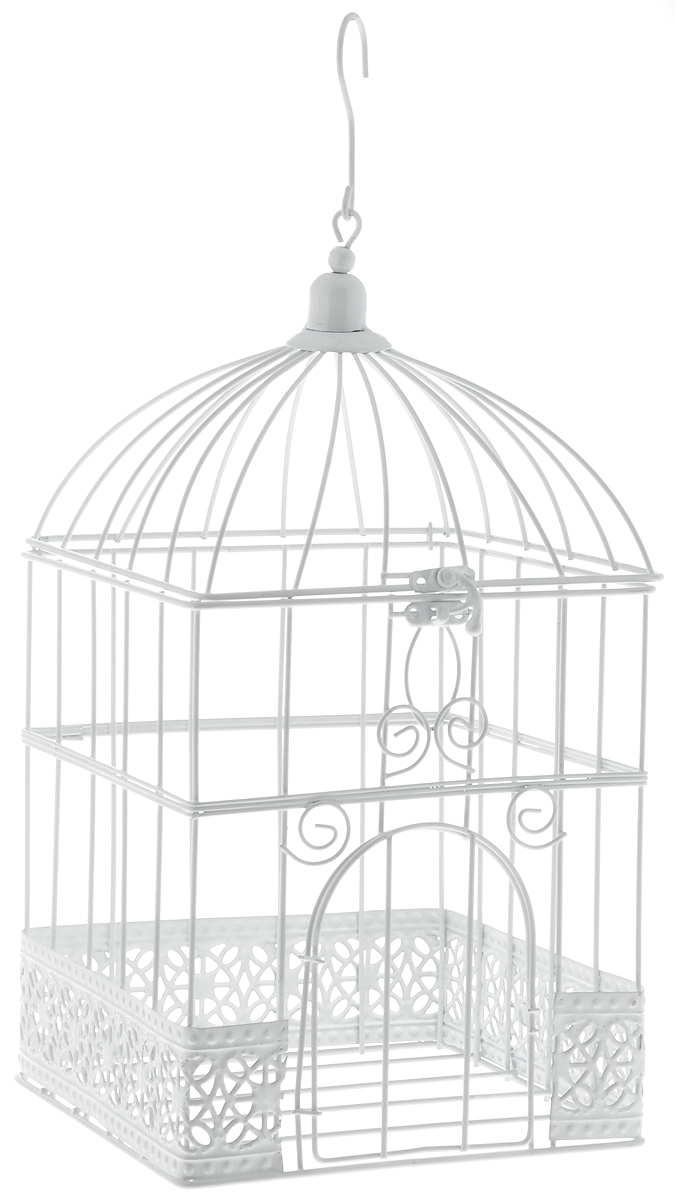 Клетка декоративная Magic Home Ажурная, 17 х 17 х 32 см4041485332701Декоративная клетка Magic Home Ажурная выполнена из высококачественного металла. Изделие украшено изящными коваными узорами и дополнено крышкой, которая закрывается на специальный замок. Сверху клетки имеется крючок, за который ее можно повесить в любое удобное место. Такая клетка подойдет для декора интерьера дома или офиса. Кроме того, это отличный вариант подарка для ваших близких и друзей.Размер клетки: 17 х 17 х 32 см.